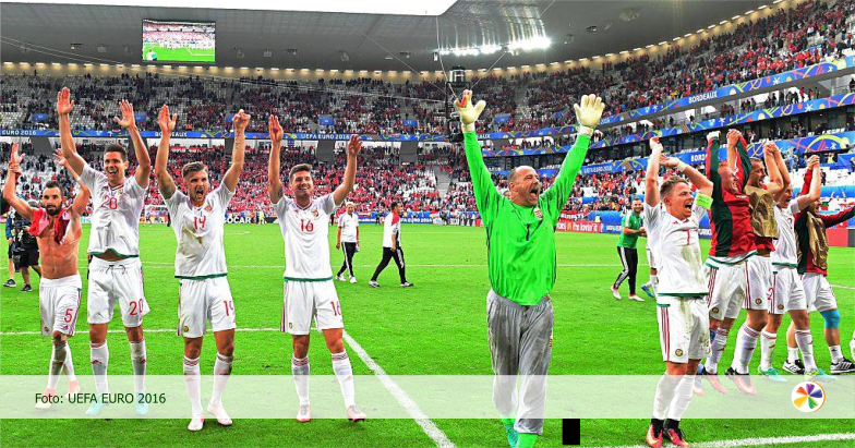 A magyar csapat boldog
