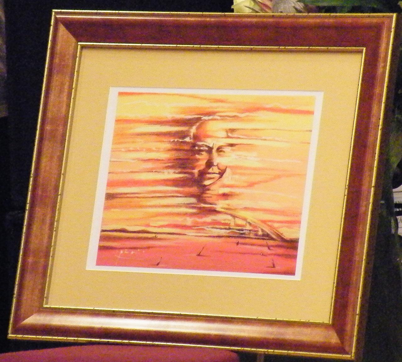 L. Ron Hubbard kép, amely a Los Angeles-i múzeumban látható (2008.)