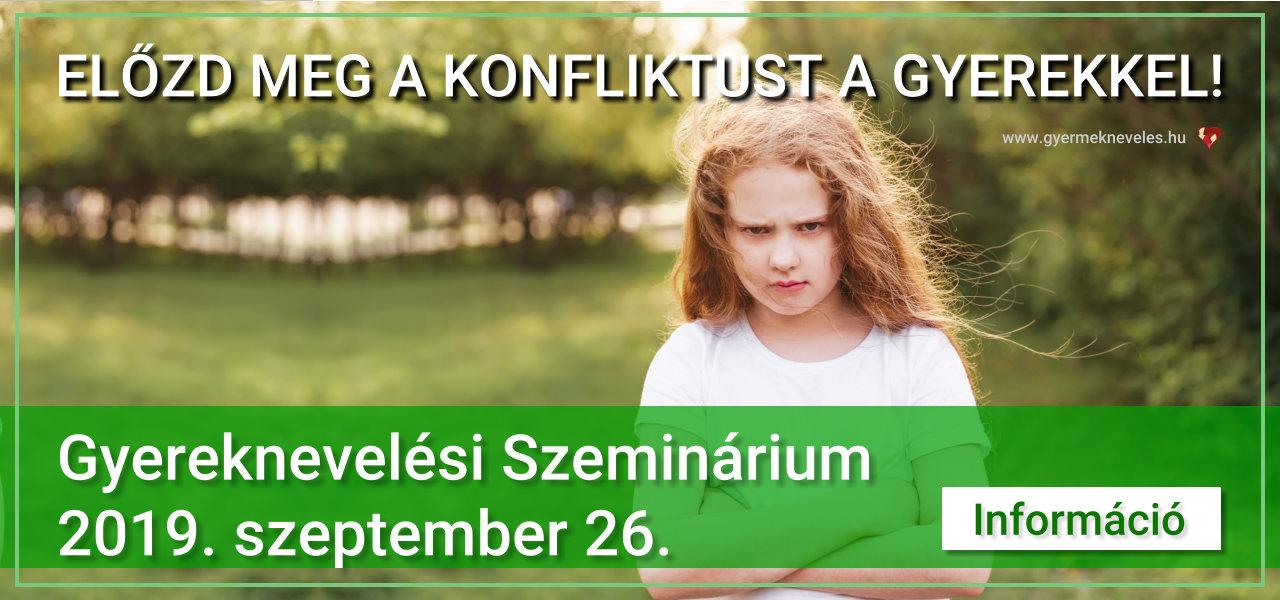 Gyermeknevelési szeminárium 2019. szeptember 26.